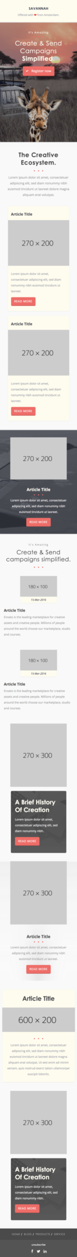 Responsive HTML Email templates - Get them customized to your needs